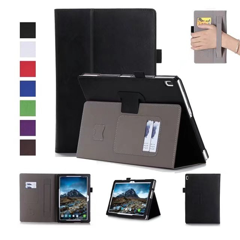 Luxury PU Leather Case Stand Cover for Lenovo TAB 4 10 TB-X304F TB-X304N TB-X304 Tablet with Card Slots Hand Strap + Free Gift ultra thin smart flip pu leather cover for lenovo tab 2 a10 30 70f x30f x30m 10 1 tablet case screen protector stylus pen
