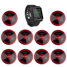 SINGCALL Wireless Calling Sistema, coffee shop, ristorante, hotel, sala da tè, 1 orologio cercapersone più 10 multy funzione pulsante impermeabile
