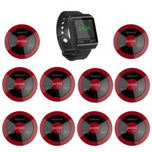 SINGCALL Wireless Calling System coffee shop restaurant hotel tea house 1 watch pager plus 10 multy