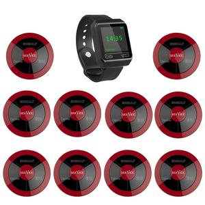 Image 1 - SINGCALL Wireless Calling System ,coffee shop, restaurant,hotel,tea house,1 watch pager plus 10 multy function waterproof button