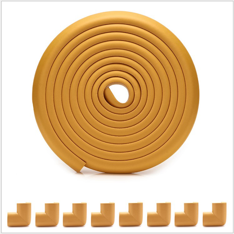 Купить с кэшбэком 5 M+8pcs Corners Child Protection Corner Protector Baby Safety Guards Edge & Corner Guards Angle Form Free Tape Wholesale