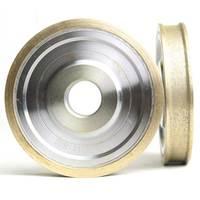 Straight edge diamond wheel for glass metal bond abrasive wheels for glass ceramic edging and beveling hole 22mm grit 150 M008