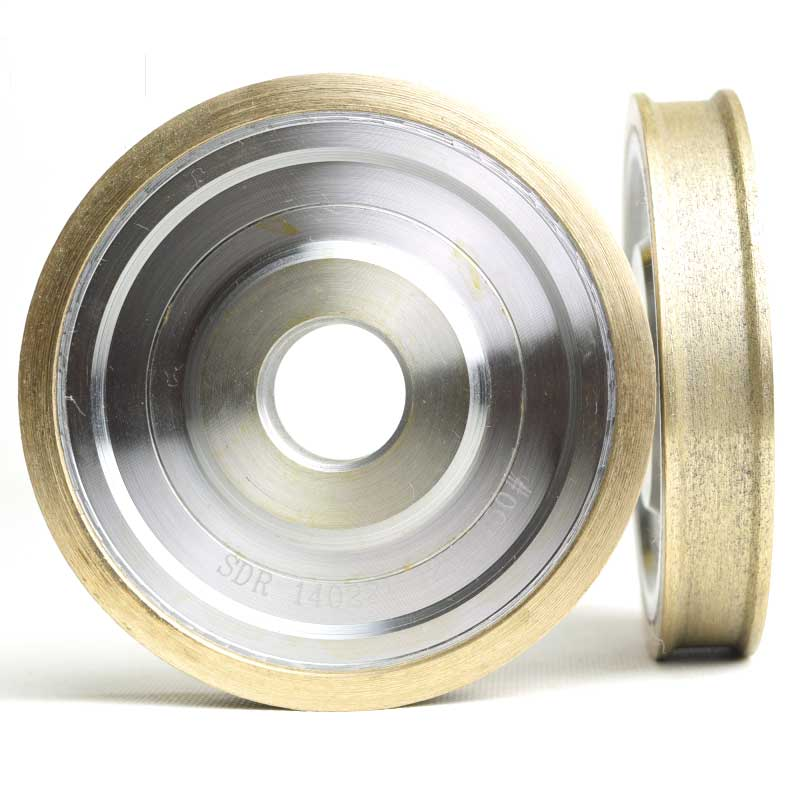 Straight edge diamond wheel for glass metal bond abrasive wheels for glass ceramic edging and beveling hole 22mm grit 150 M008 1piece electroplated diamond grinding wheel dia 65mm hole 22mm for round and straight 3 12mm glass edge tz74