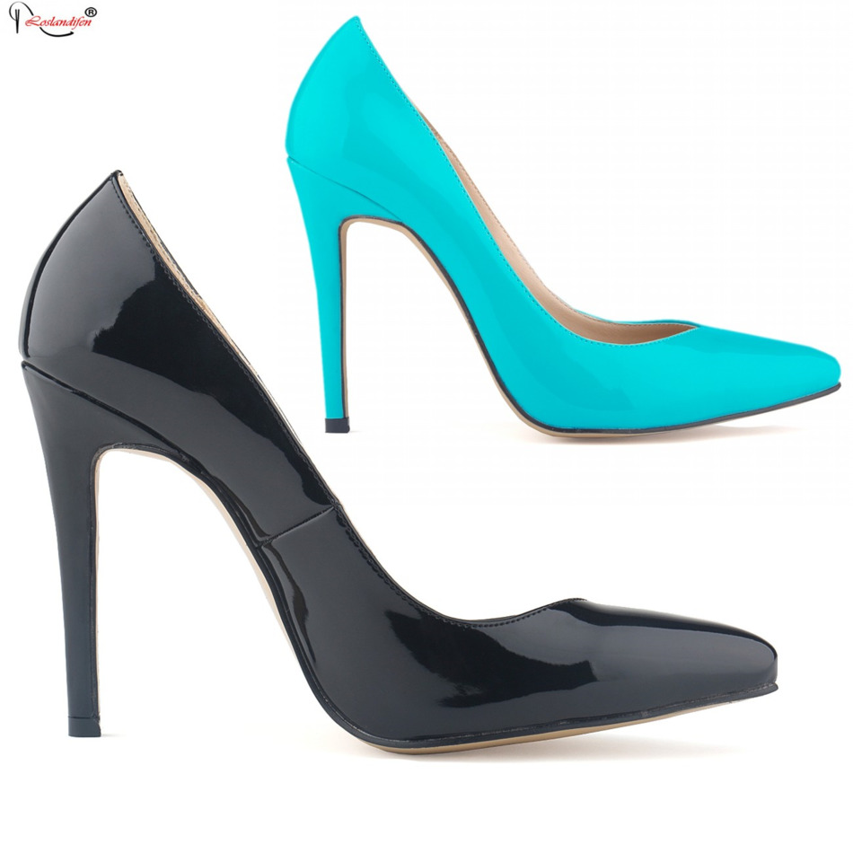 Spring New 2016 Office Ladies Black Red Pumps Pointed Toe Classic Solid Color Women S High