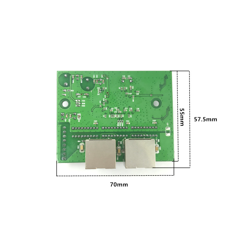 Image 5 - factory direct mini fast 10/100/1000mbps 2 port ethernet network lan hub switch board two layer pcb 2 rj45 1*8pin head port-in Network Switches from Computer & Office