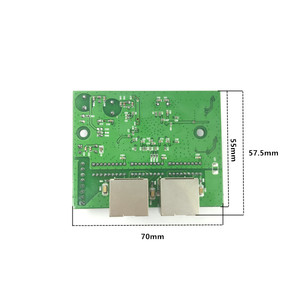 Image 5 - factory direct mini fast 10/100/1000mbps 2 port ethernet network lan hub switch board two layer pcb 2 rj45 1*8pin head port
