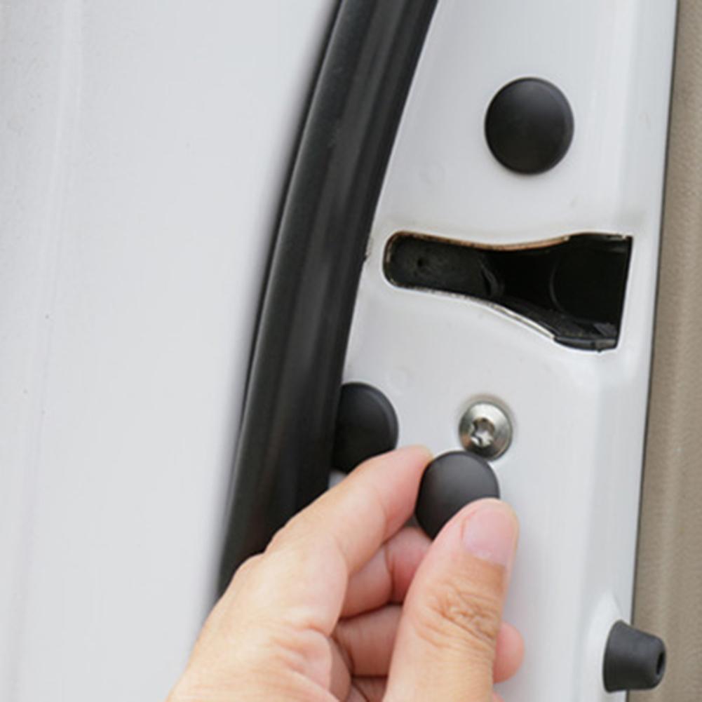 12 шт. Автомобильный Дверной замок с винтовой крышкой Защитная крышка для двери Антикоррозийная винтовая крышка Универсальная Водонепроницаемая Крышка для дверного винта