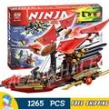 1265 unids bela 2016 nueva ninja ninja bloques kits de construcción bounty vuelo final de destino compatible con lego