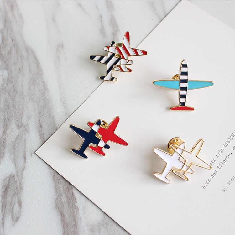קריקטורה חמודה משלוח חינם מטוס סיכת פין סיכות כפתור ג 'ינס ילדה סיטונאי תכשיטי אופנה קישוט הבגדים