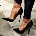 Sexy Ol Mujeres Bombas de Punta estrecha Tacones Altos Slip-On de Primavera zapatos de Las Mujeres Stilettos Talones Más El Tamaño 34-46 Zapatos de Mujer Con tacones