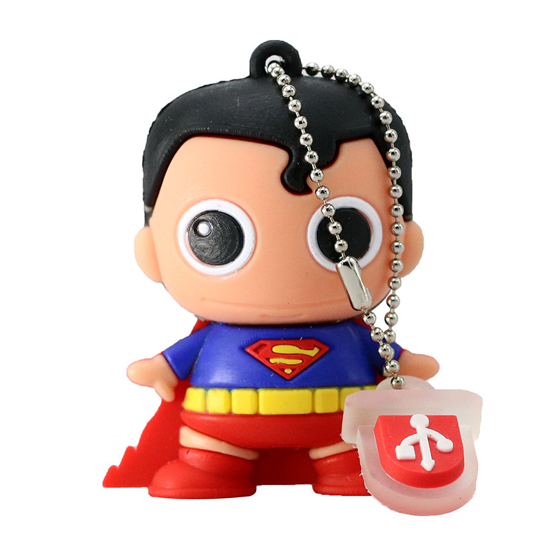 New Mini Cartoon Super Heros USB Flash Drive 128GB 64GB 32GB PenDrive 16GB 8GB 4GB Batman Superman Pen Drive flash memory stick (6)