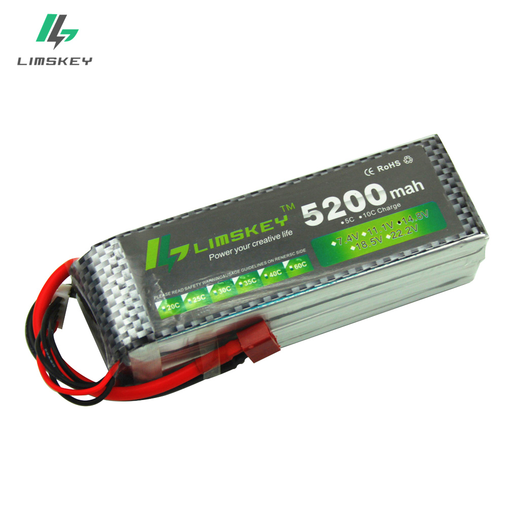 Limskey POWER <font><b>4S</b></font> <font><b>Lipo</b></font> Battery 14.8v <font><b>5200mah</b></font> 30C RC Helicopter RC Car RC Boat Quadcopter <font><b>Lipo</b></font> 14.8V Battey image