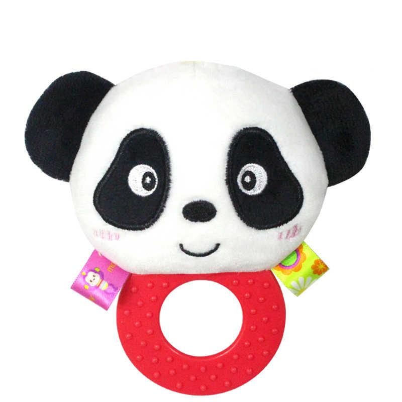 ทารก Teethers Rattles ตุ๊กตาตุ๊กตาตุ๊กตาสัตว์ของเล่นสำหรับฟัน Grip และกัดมือจับ Pleasant ริงโทน Handbell