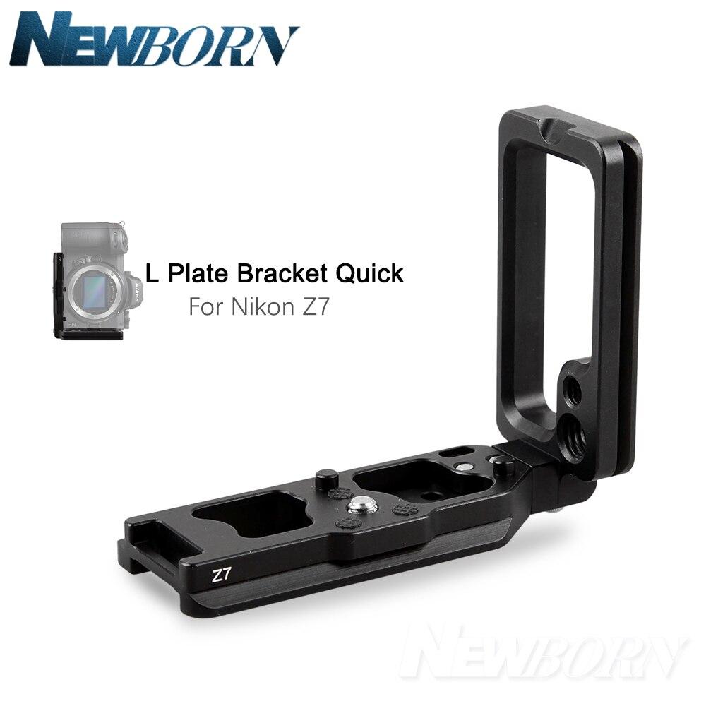 L plaque Z7 support de caméra pour NIKON Z7 prise verticale de la main prise rapide en alliage d'aluminium l-support de montage plaque latérale