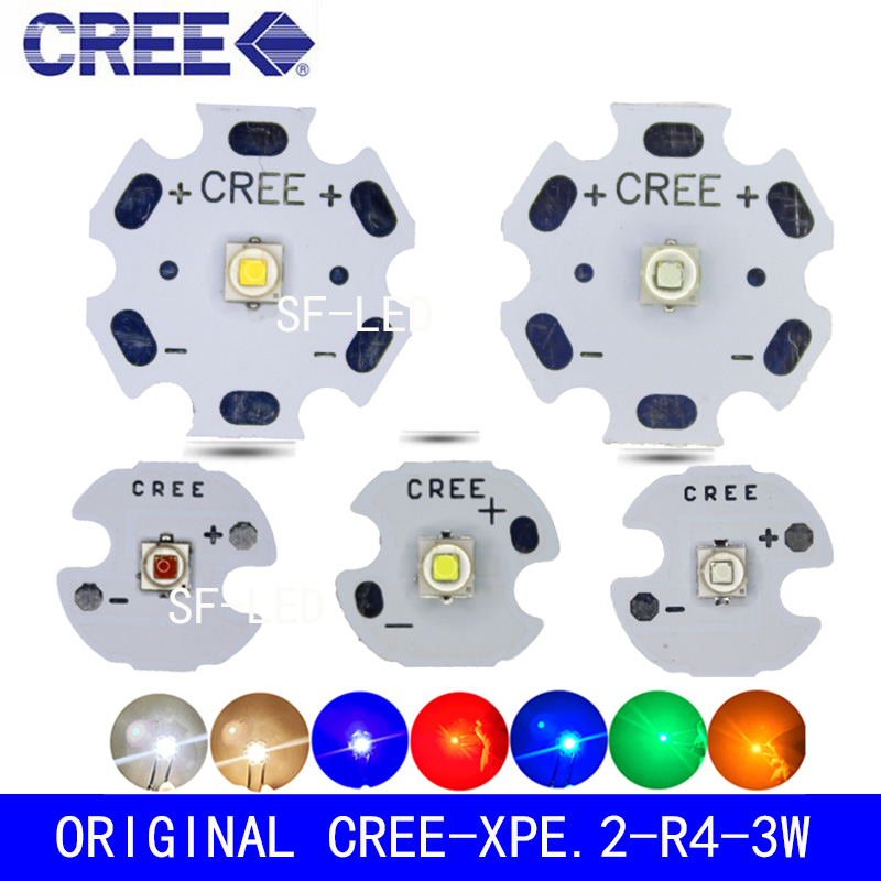 10PCS Cree XPE2 XP-E2 <font><b>Led</b></font> Emitter Light Red 620NM Green 525NM Blue <font><b>460NM</b></font> On 20MM/16MM/14MM/12MM/8MM Aluminum PCB Board image