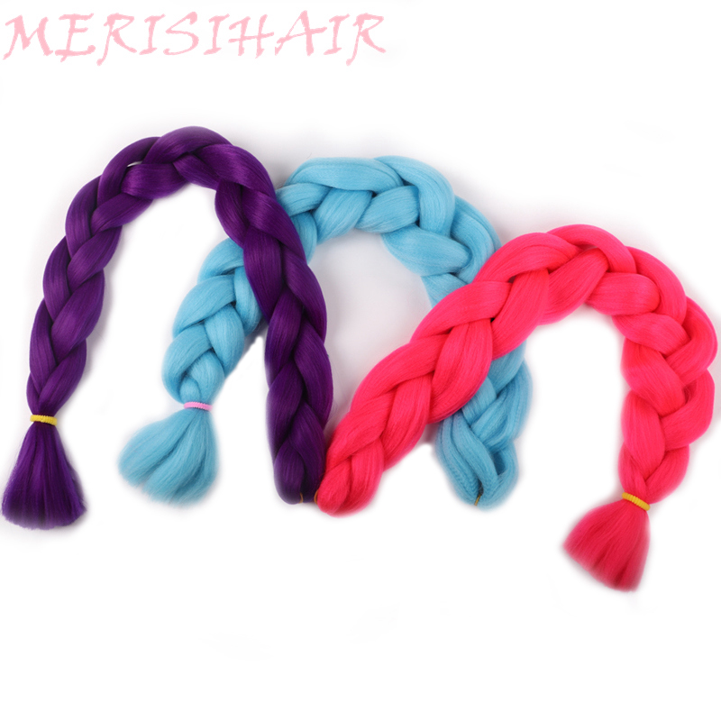 Merisi Hair 82 Inch Jumbo Braids Synthetic Kanekalon Red Purple Green 29 Colors Available In Hair Extensions For Black Women Jumbo Braids