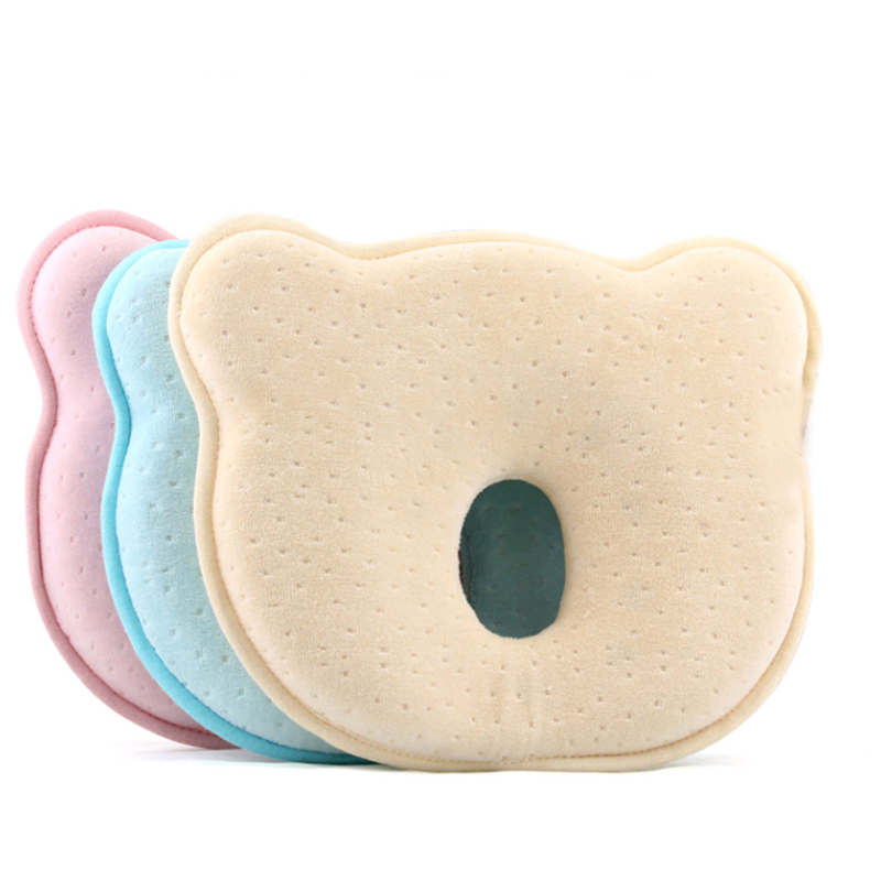 idearcherry Infant Shaping Pillows Memory Foam Baby Pillow Breathable Prevent Flat Head Cushion Baby Room Decor Sleep Positioner