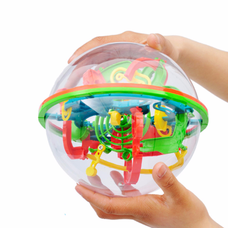 3d puzzle maze ball 100 barriers - 100 Step 3D puzzle Ball Magic Intellect Ball Labyrinth Sphere Globe Toys Challenging Barriers Game Brain Tester Balance Training