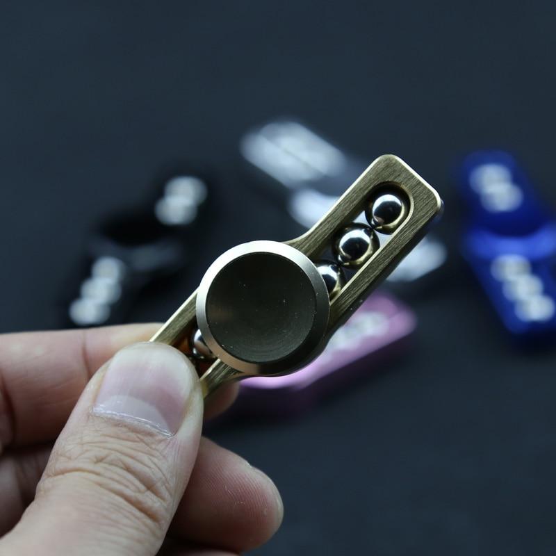 6.5cm EDC HandSpinner Fidget Spinner Metal Hand Spinner Finger Tri-Spinner Stress Reliever Spinning Tops Fidget Toys For Kids