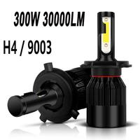 CARPRIE New Pair of 9003 H4 6000K LED Total 300W 30000LM Combo Headlight High Low Beam July18 Drop Shipping