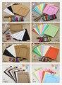 Mezclada 3 colores creativo kraft colgando marco de fotos decoración casera diy material 7 unids/10 unids 049007006