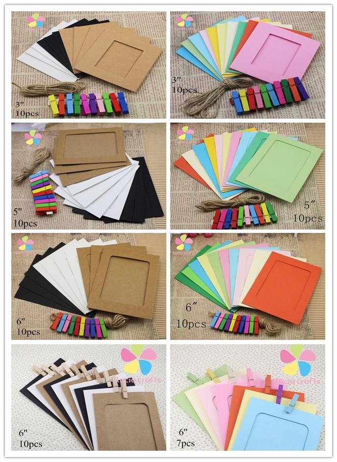 웃 유Mezclado 3 colores creativo Kraft colgante foto marco ...