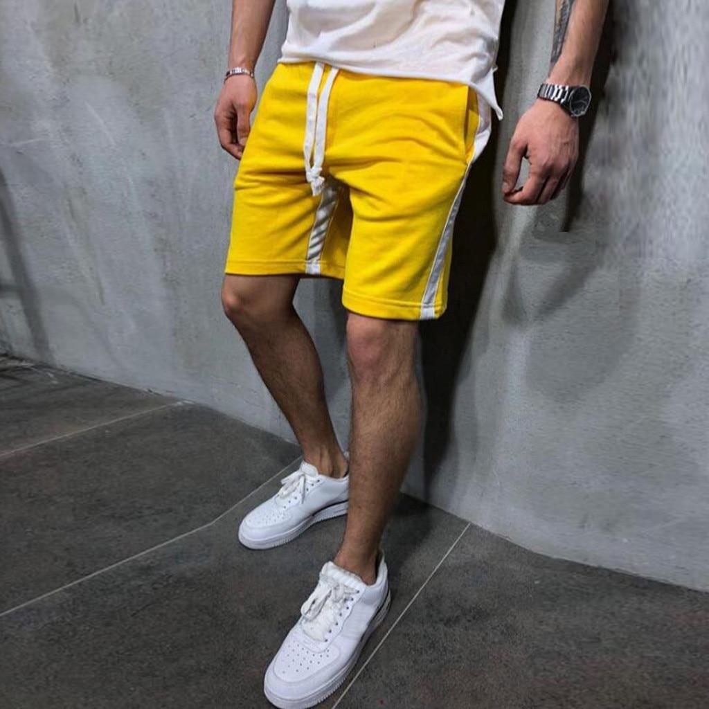 Shorts Men Pants Trouser Joggers Pocket Drawstring Patchwork Casual Summer Plus-Size