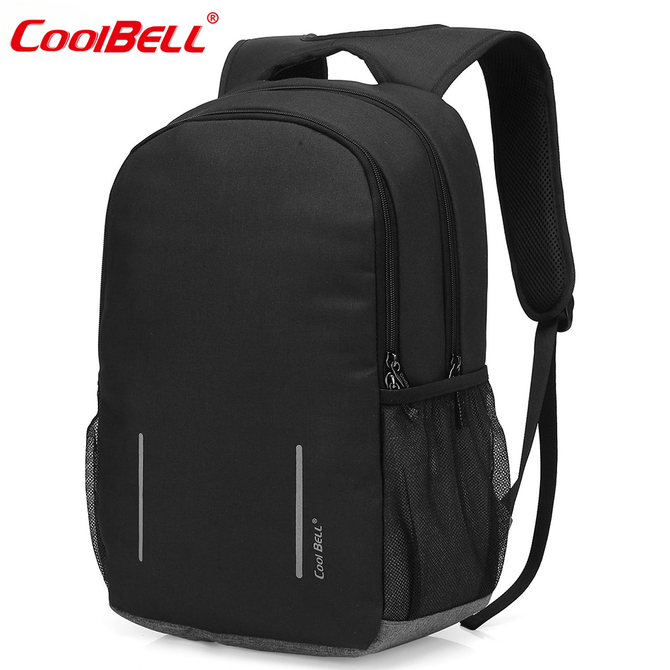цена CoolBELL Multi-compartment Rucksack with USB Port Lightweight School Bag DayPack 17.3 Inch Laptop Backpack For Dell / Macbook