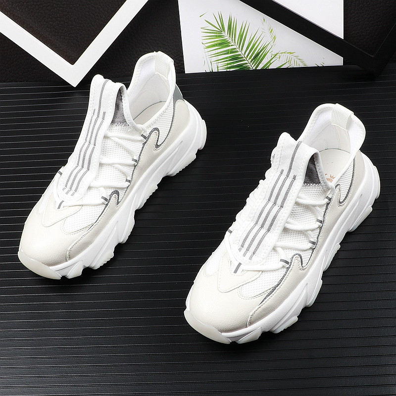 high quality men youth casual shoes thick Bottom mesh Breathable mixed color Platfrom Leisure Shoes For web celebrity 38-43 12