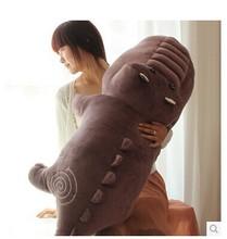 huge plush purple crocodile toy stuffed cartoon Chinese alligator pillow birthday gift about 170cm