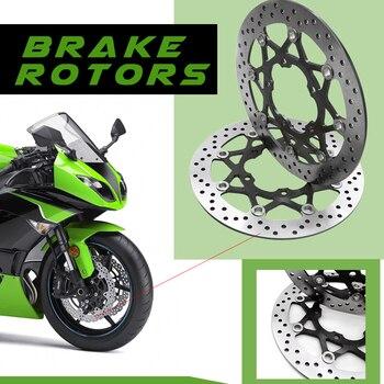 CNC Motorcycle Front Floating Brake Disc Rotor For SUZUKI GSXR750 GSXR600 GSXR 600 GSXR 750 2006-2010 GSXR1000 K5 2006-2007 motorcycle semi metallic brake pad set for suzuki gsr600 gsr 600 2006
