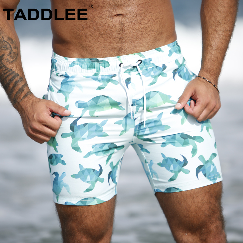 Taddlee Brand Sexy Men's Boardshorts Beach Wear Men Swimwear Swimsuits Swim Surfing Boxer Trunks Gay Bathing Suits   Board     Shorts