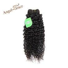 Ангел благодати волос бразильский странный вьющиеся волосы цельнокроеное платье только 100% человеческие Инструменты для завивки волос Волосы Remy Связки натуральных волос Бесплатная доставка
