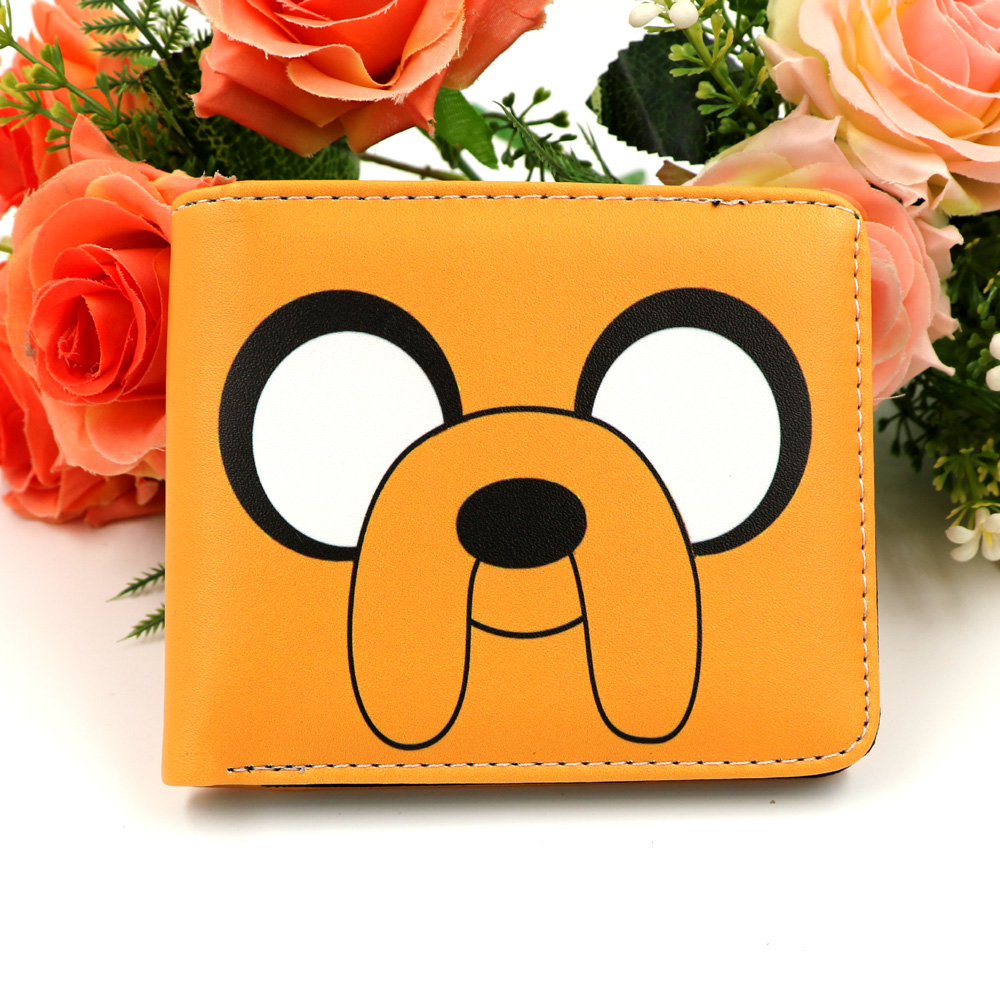 Adventure Time Colorful Anime Leather Wallets Credit Card And Photo Holder Purse Gift Coin Pocket Men Women Money Bag