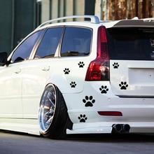 8 pcs/lot Car Window Bumper Body Decal Sticker Bear Dog Paw Foot Prints Black Red White OCT-21