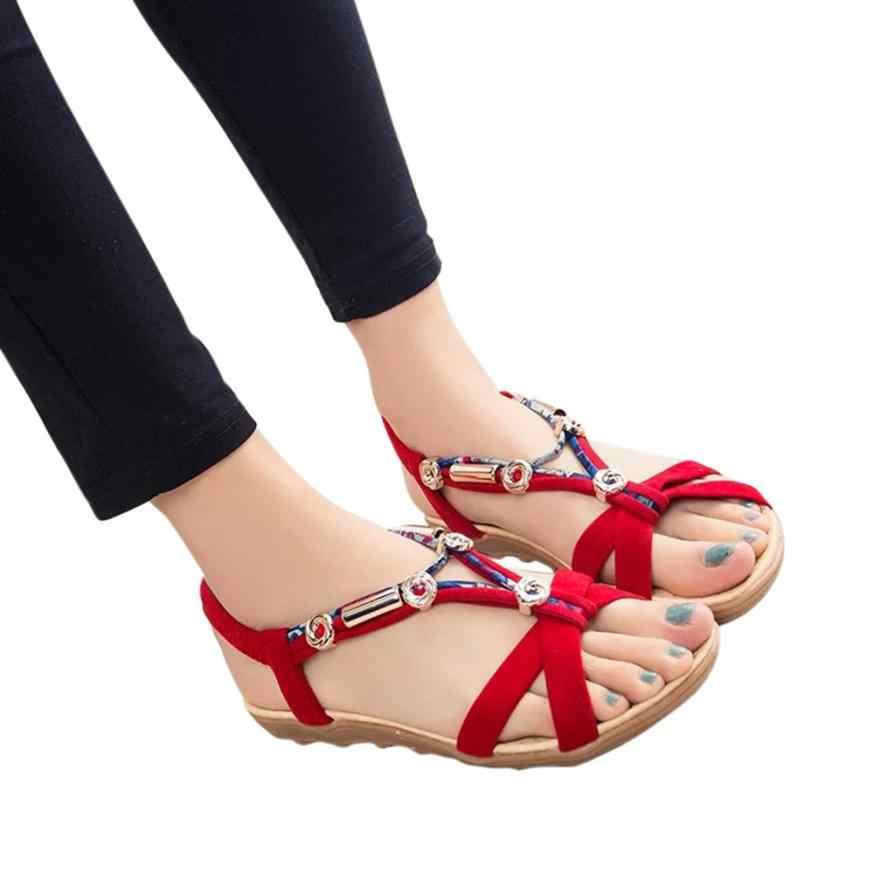 092191ef533696 Sandals Women s Summer Sandals Shoes Peep-toe Low Shoes Roman Sandals  Ladies Flip Flops Dropshipping
