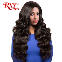 RXY Brazilian Body Wave Remy Hair Weave Bundles 1PC 100 Human Hair Bundles Natural Color 10