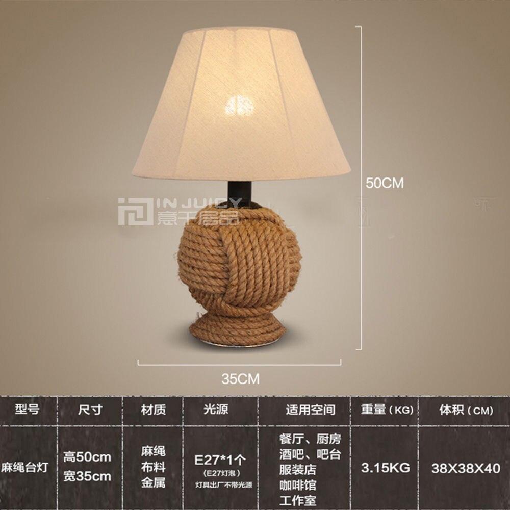 Cáñamo Lámpara De Bombillas Edison Vendimia Cuerda Tela UzMVpGSq