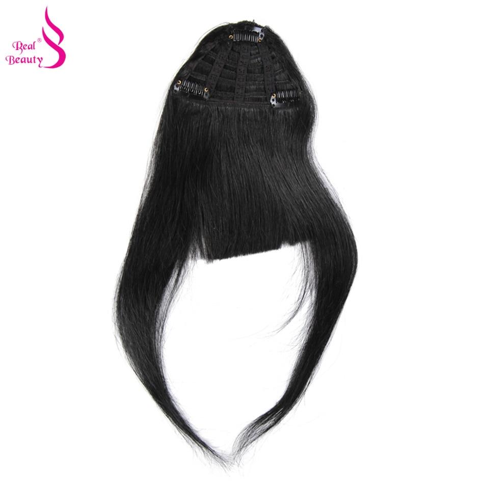 Bangs Brasilianische Gerade 100% Menschliches Haar Pony Für Frauen Reine Clip In Fringe Haar Verlängerung Natürliche Schwarz Freies Verschiffen Aofrie Haarteile