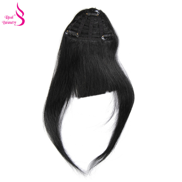 Real Beauty Straight Human Hair Clip Bangs Remy Chinese Hair