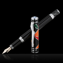 Picasso 80 Maya Rhyme of Heaven 10K Gold Nib Fountain Pen with Silver Clip and Original Gift Box for Writing Gift Collection picasso pen true men and women dedicated black gold fountain pen 902 gift