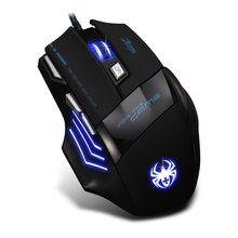 Free shipping Zelotes T80 7200DPI  Professional LED Optical USB Wired Gaming Mouse Mice for Gamer PC mouse Noiseless mouse