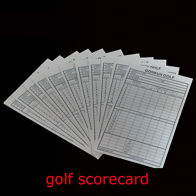 Hot Sale Portable Durable Practical 18 Hole Golf Club Competition Scorecard Organizer Record List Golf Training Aids Equipment