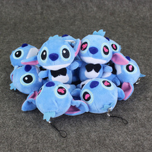10pcs lot Lilo Stitch Kawaii plush CellPhone Strap Keychain Pendant TOY Wedding Gift TOY DOLL