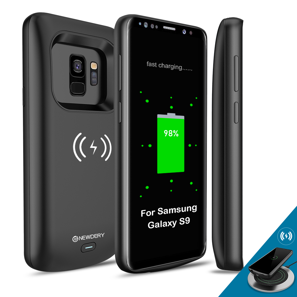 For Samsung Galaxy S9 Plus Battery Case 5200mAh Qi Wireless Charging Compatible, Newdery Extended Charger Case for S9 4700mAhFor Samsung Galaxy S9 Plus Battery Case 5200mAh Qi Wireless Charging Compatible, Newdery Extended Charger Case for S9 4700mAh