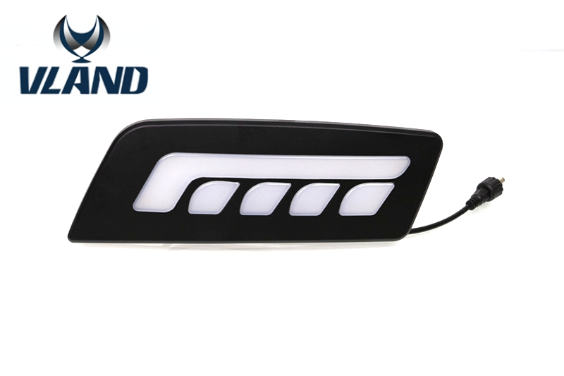 Free shipping vland factory for Ford Ranger led Daytime Running Light  2012 2013 2014 led plug and play design  free shipping vland factory for mitsubishis 2013 2014 2015 pajero sport drl led daytime running light with turn lights