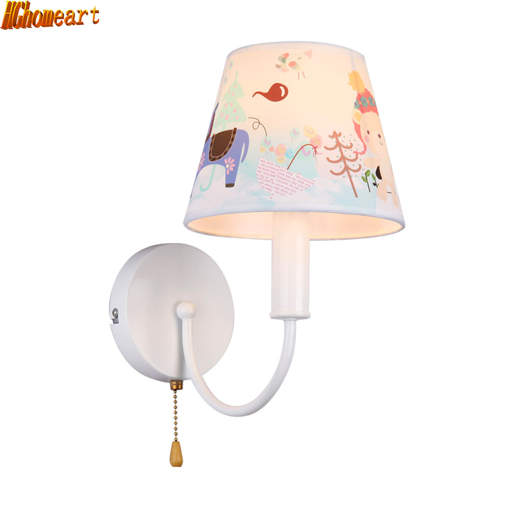 HGhomeart Childrens Cartoon Wall Lamp LED Light Childrens Bedroom Bedside  Reading Wall Lamp Creative Male Girl General Wall Lamp