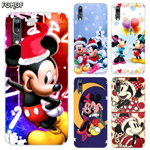 Soft Silicone Phone Back Case For Huawei P20 P30 P8 P9 P10 lite Pro Plus P Smart + TPU Heart Cover Christmas Mickey Minnie
