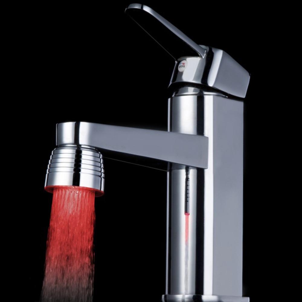Temperature Sensor 3 Color Kitchen Water Tap Faucet Glow Shower LED Light