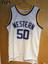 NEW #22 Butch Mcrae Blue Chips Movie Jersey #50 ANFERNEE HARDAWAY Boudeaux WESTERN University SHIRTS